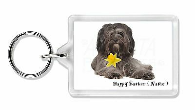 Personalised Tibetan Terrier Photo Keyring Animal Gift, AD-TT2DA2K
