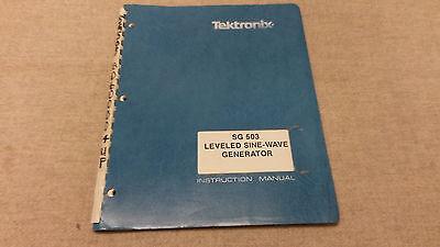 Tektronix Sg503 Leveled Sine Generator Instructionservice Manual