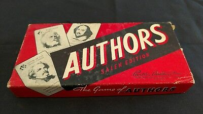 Vintage Card Game of Authors with original box in color