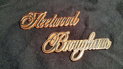 Cadillac Fleetwood Brougham Quarter Metal Emblem 1984-1992 85 86 87 88 89 90 91