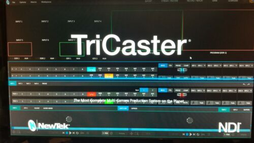 NewTek Tricaster TCXD460 AdvEd3 w/Virtual Set Editor AdvEd3 w/GTX1050ti 4GigGPU