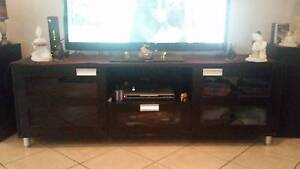 Black and silver Entertainment unit Munno Para West Playford Area Preview