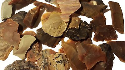10 Stück Flint knapping Abschläge Flakes aus Achat/Jaspis Steinzeit Reproduktion