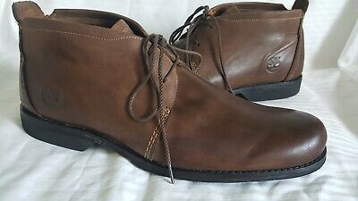 Men's Timberland Earthkeepers Size 11.5M Ankle Boots Chukka Brown Leather