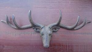 Vintage-Style-Cast-Iron-Antlers-Deer-Head-Coat-Hook-Key-Holder