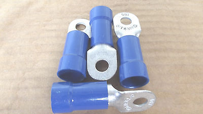 """14 PC VINYL RING ELECT CON1/0 GAUGE 3/8""""TO1/2""""-9/16"""" STUD SIZE,MADE IN USA.11.7"""
