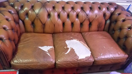 Retro Chesterfield Sofa - 3 seater Best Offer Wins!
