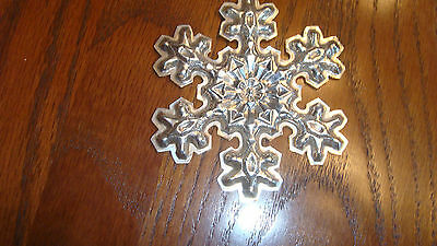 Gorham Sterling Silver 1976 Snowflake Christmas Ornament