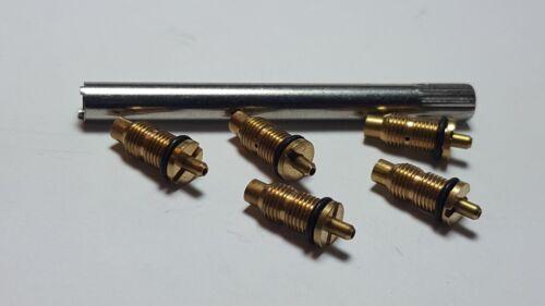Ronson Type (Varaflame) Quality Filler Inlet Valve Tool + 5 Valves