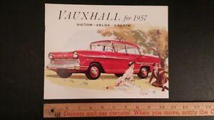 1957-VAUXHALL-Color-Dealer-Sales-Catalog-Excellent-Condition-CDN