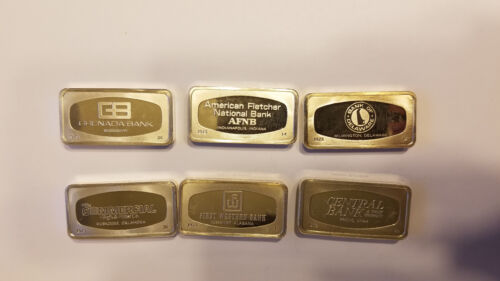 Franklin Mint Sterling Silver .925 2.2 oz each Silver Bank Union Bars CHOOSE