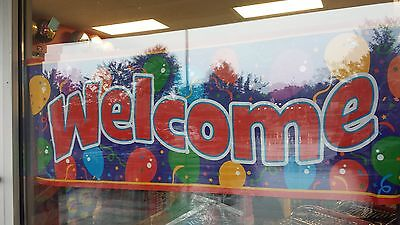 WELCOME Giant Banner Sign  61 3/4