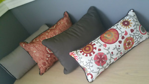 Outdoor decorated pillows