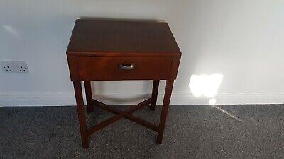 East light vintage radio lamp beside table mahogany
