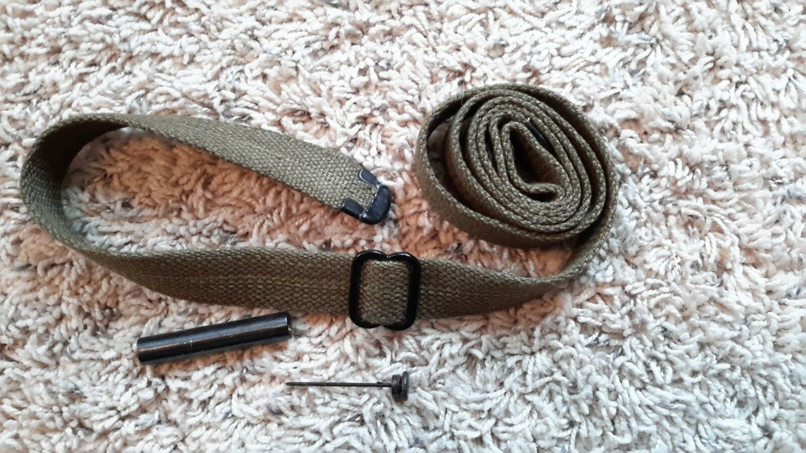 USGI WW2 .30 M1 CARBINE SLING and OILER -  OD - NEW - FREE SHIPPING