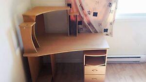 Desk, leather recliner-furniture