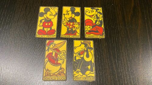 Vintage 1935 Disney Mickey Mouse Post Toasties Horsecollar Card Game Cut Outs