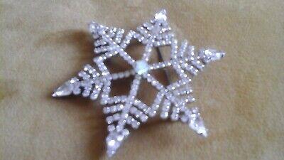 Kirks Folly large snowflake pin/brooch
