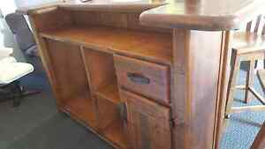 Solid timber bars plus 4 timber swivel bar stools new. Cooloola Cove Gympie Area Preview