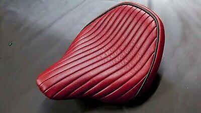 TRIUMPH BONNEVILLE BOBBER GENUINE RED LEATHER SEAT COVER