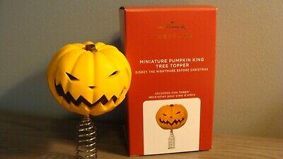2020 Hallmark Miniature Pumpkin King Tree Topper Disney Nightmare Before Christm