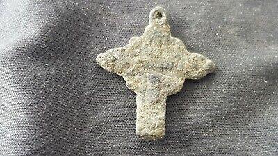 Lovely little Post Medieval European type crucifix Please read description L131p