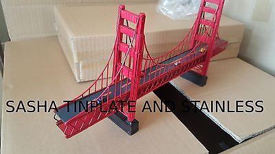 GOLDEN GATE BRIDGE tinplate vintage metal model handmade N Gage Train Layout for sale  China