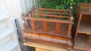 1870s sheet music stand with draw .. Great magazine rack Silkstone Ipswich City Preview