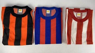 Vintage Russel Athletic Striped Soccer Jersey Blue Red White Black Orange NOS Orange Striped Soccer Jersey