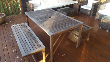 Outdoor timber table