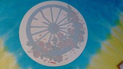 Grateful Dead  Wagon Wheel Roses 5 Inch Inside Window Sticker