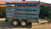Tandem trailer  and crate Milawa Wangaratta Area Preview
