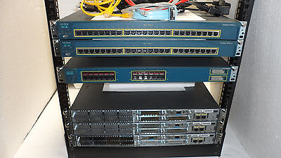 Cisco CCNA CCNP Lab Voice Security CUCM 3x 2811 Free Only Lab with 12U Rack