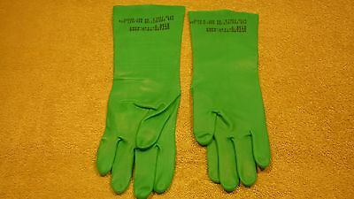 Gloves Chemical And Oil Protection Gauntlet Mil-g-87066 Size 7 Lot Of 4 Each