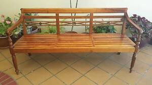 CARVED OUTDOOR BENCH, VGC! Greenslopes Brisbane South West Preview