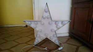 Star Light shaped lamp metal white Moonee Ponds Moonee Valley Preview