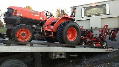 4x4 Kubota L4400-d Tractor Proflex 120 Mower Pto No Backhoe Loader Golf Course