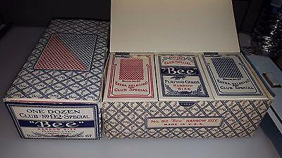 (1) ORIGINAL BOX 12 PACKS NOS SEALED VINTAGE BEE PLAYING CARDS  NO 92 67 BACK