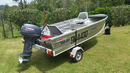 2015 Yamaha 15hp Seajay 3.5 nomad. Almac trailer. Excellent cond