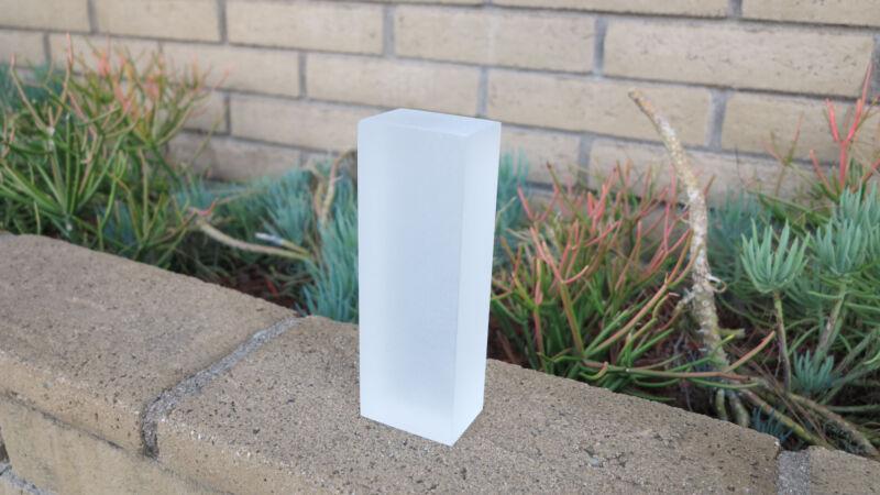 "2 pack ! Custom Frosted SOLID Acrylic/Plexiglass BLOCK  1.5"" x 1.5"" x 4"""