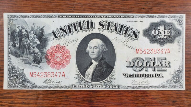 1917 $1 One Dollar United States Legal Tender Note Appears Uncirculated