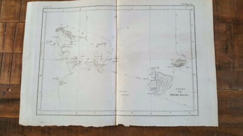 NICE ANTIQUE MAP - CHART OF THE FRIENDLY ISLANDS, Circa 1785