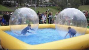 Wow balls and inflatable pool