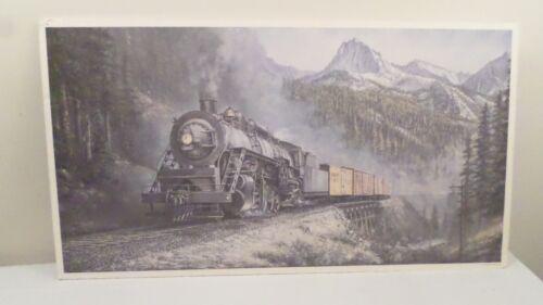 "Edgar W Kruckeberg 1994 Railroad Train Art Print 35x19"""