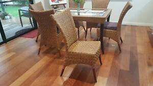 Dining Chairs cane wicker 6
