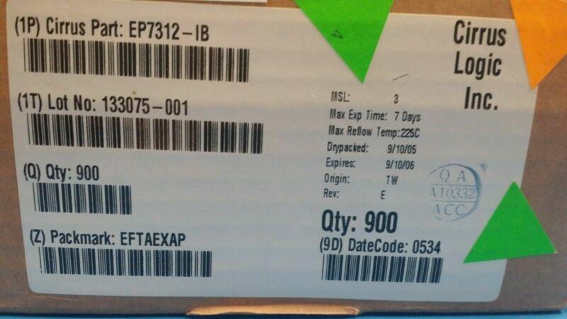 (1 PC) EP7312-IB CIRRUS LOGIC IC ARM720T MCU 74MHZ 256-PBGA