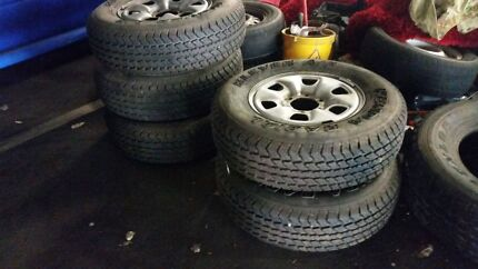 5 x Standard 2012 hilux rims and tyres 90+% Darwin CBD Darwin City Preview