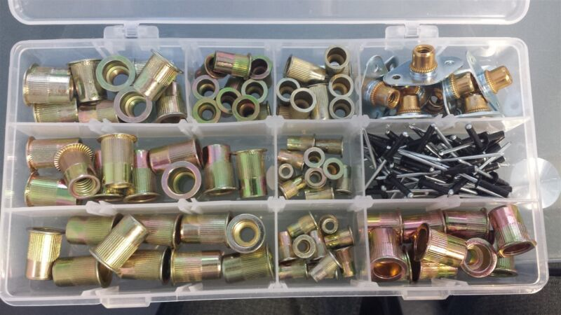"""Threaded Insert Kit with Plates and 1/8"""" Rivets"""