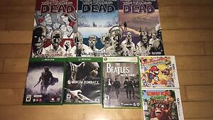 Various games +TWD volumes