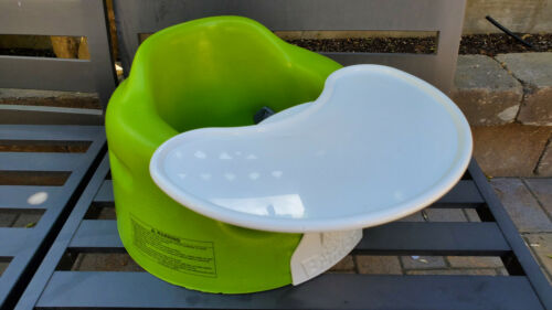 🍀 NICE Bumbo Baby Infant Toddler Floor Booster Seat Tray Safety Belt Lime Green
